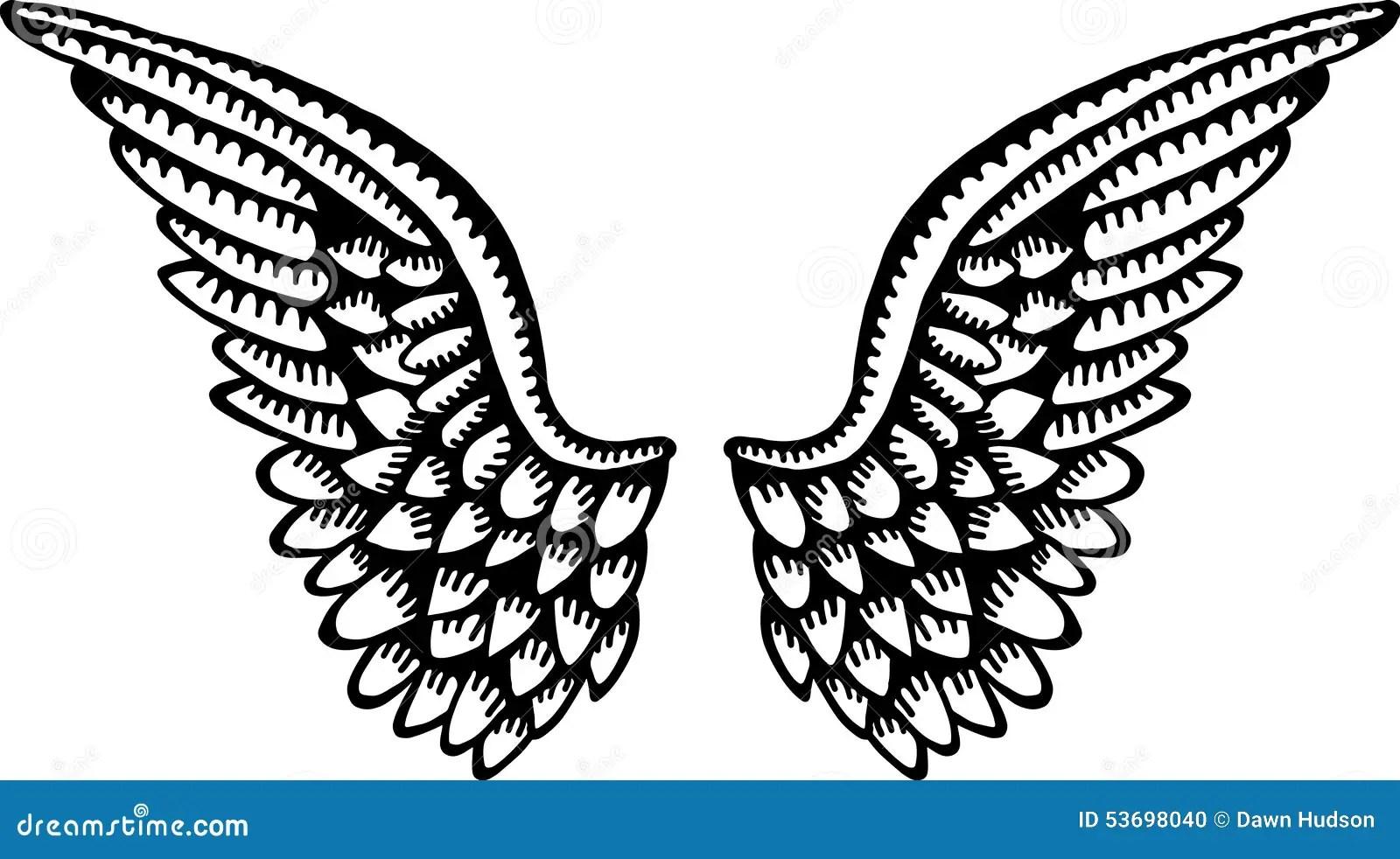 Angel Wings Stock Illustration Image Of Sketch Angel