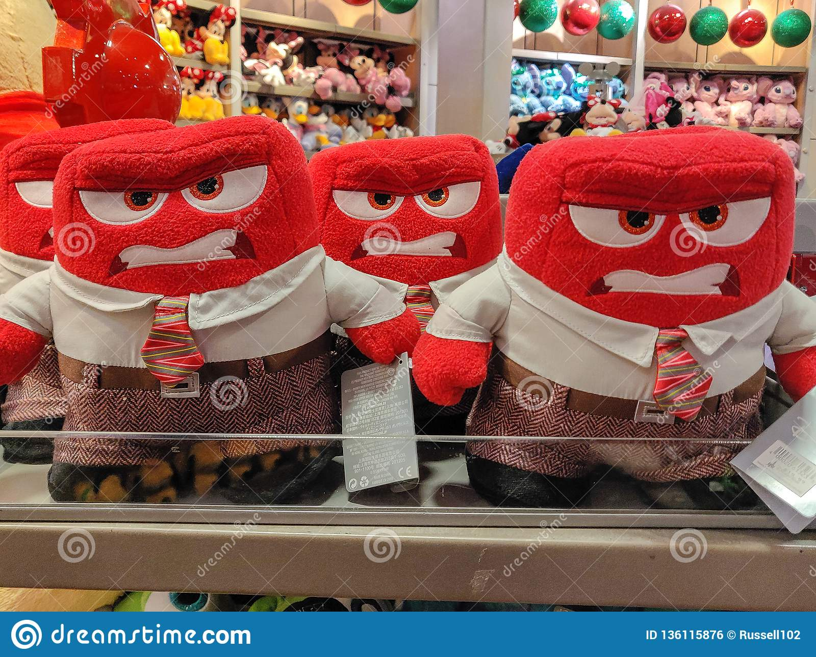 Anger Plush Toy From Inside Out For Sale In A Shop