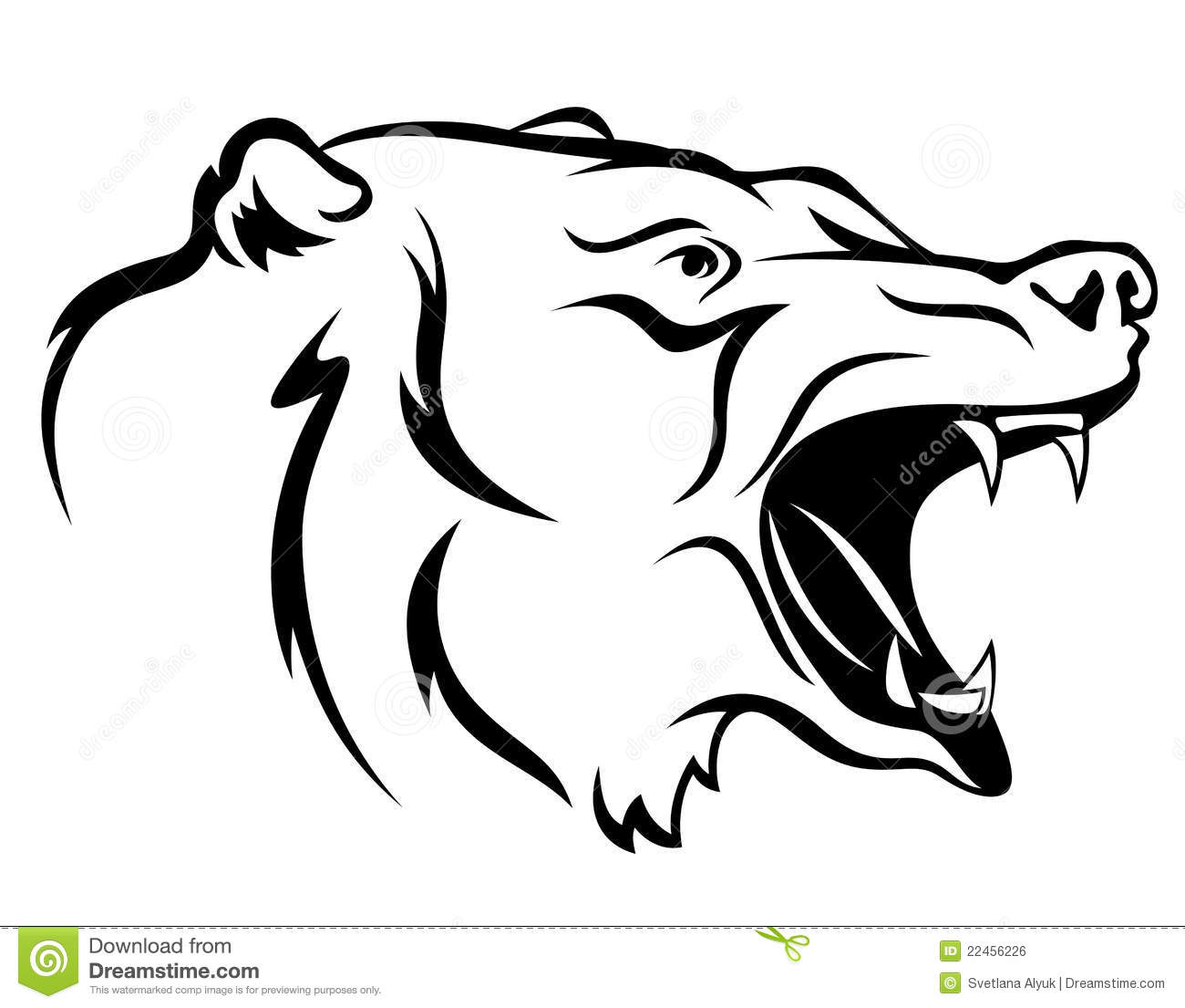Angry Bear Vector Stock Vector Illustration Of Snout