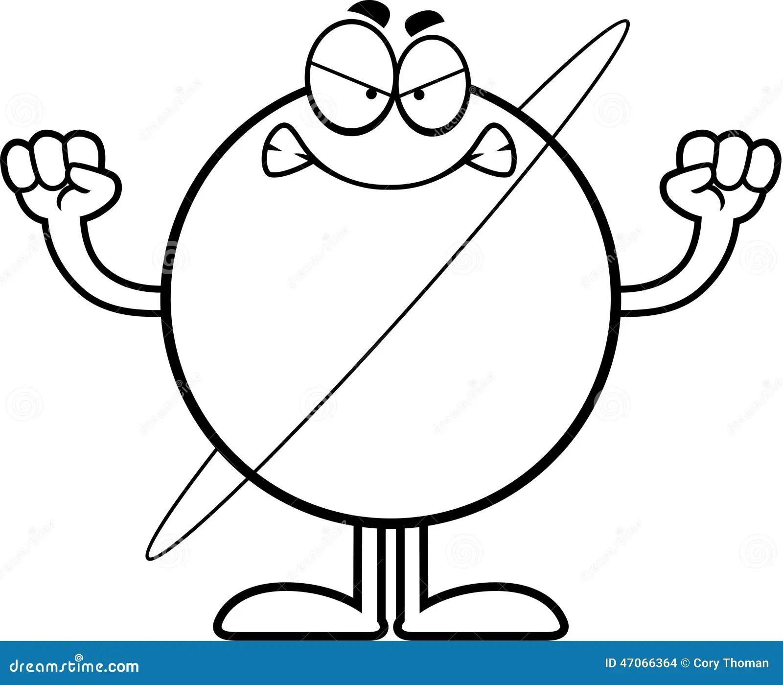 Angry Cartoon Urstock Vector Illustration Of