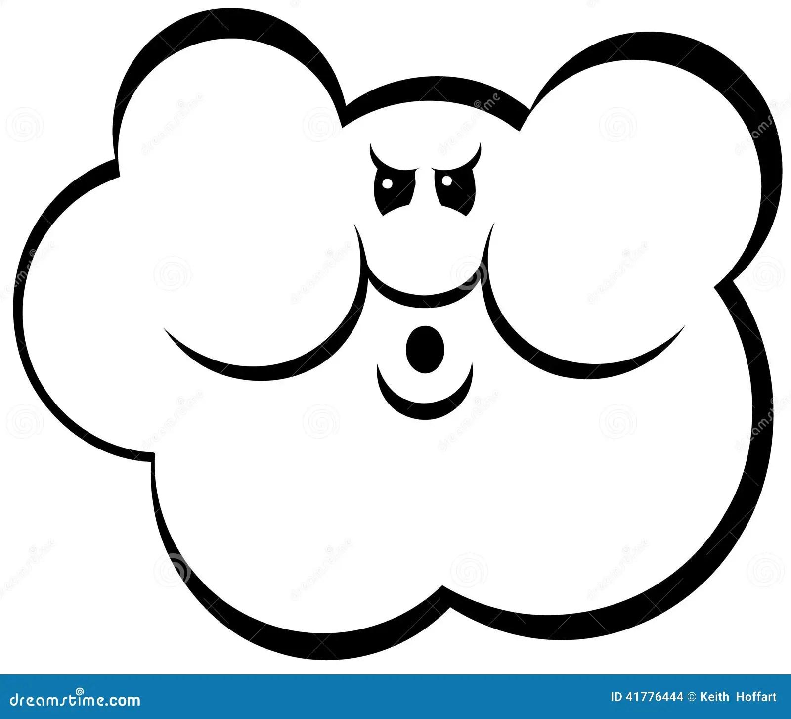 Angry Cloud Cartoon Vector Clipart Stock Vector