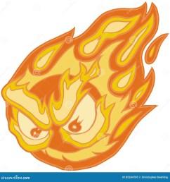 angry eyes fireball vector clip art cartoon [ 1300 x 1390 Pixel ]