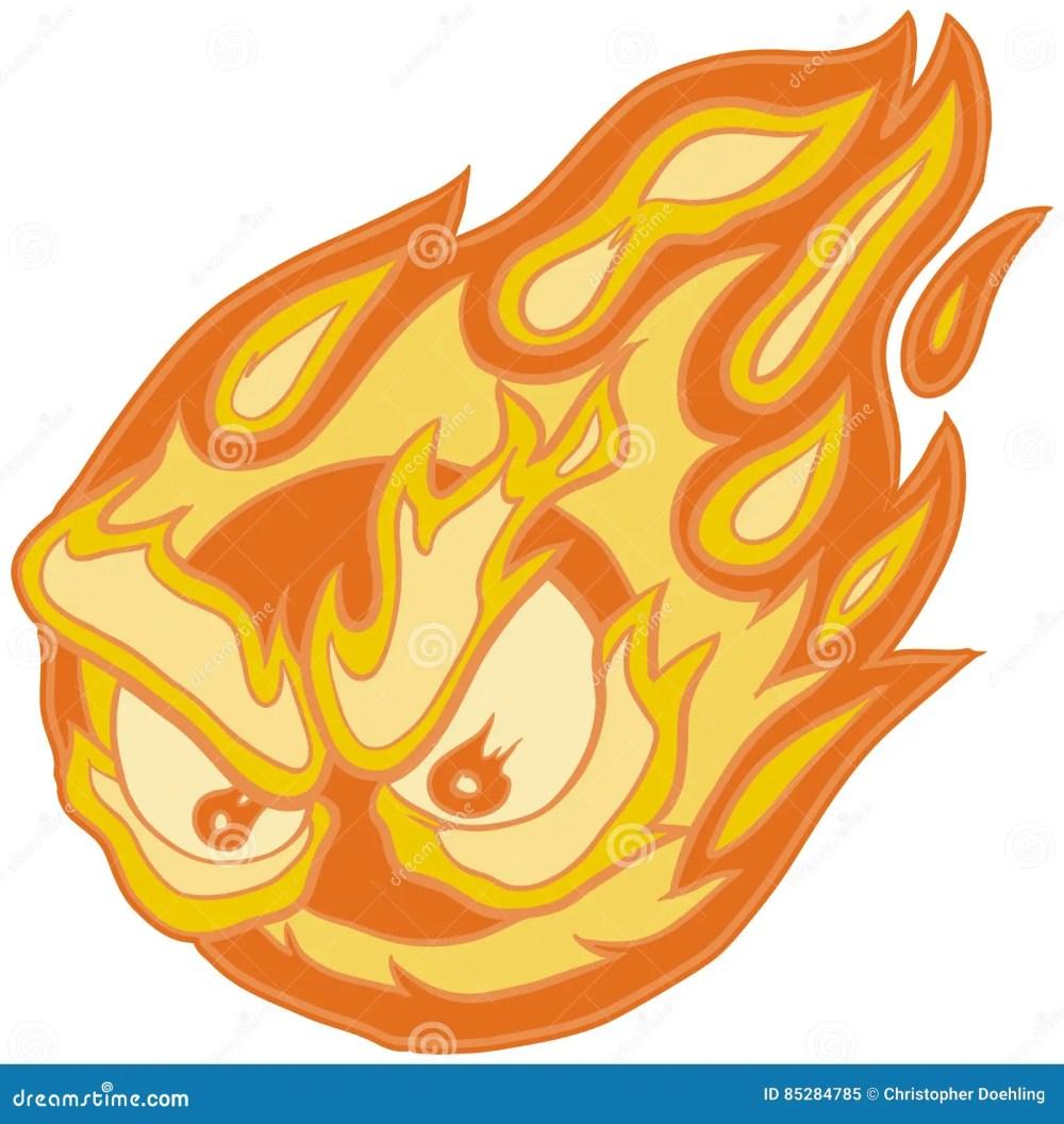 medium resolution of angry eyes fireball vector clip art cartoon