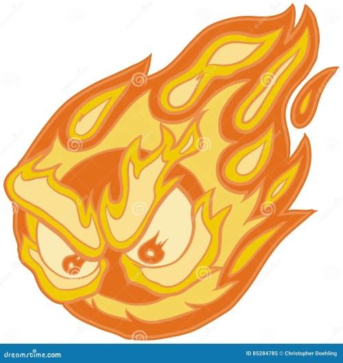 small resolution of angry eyes fireball vector clip art cartoon