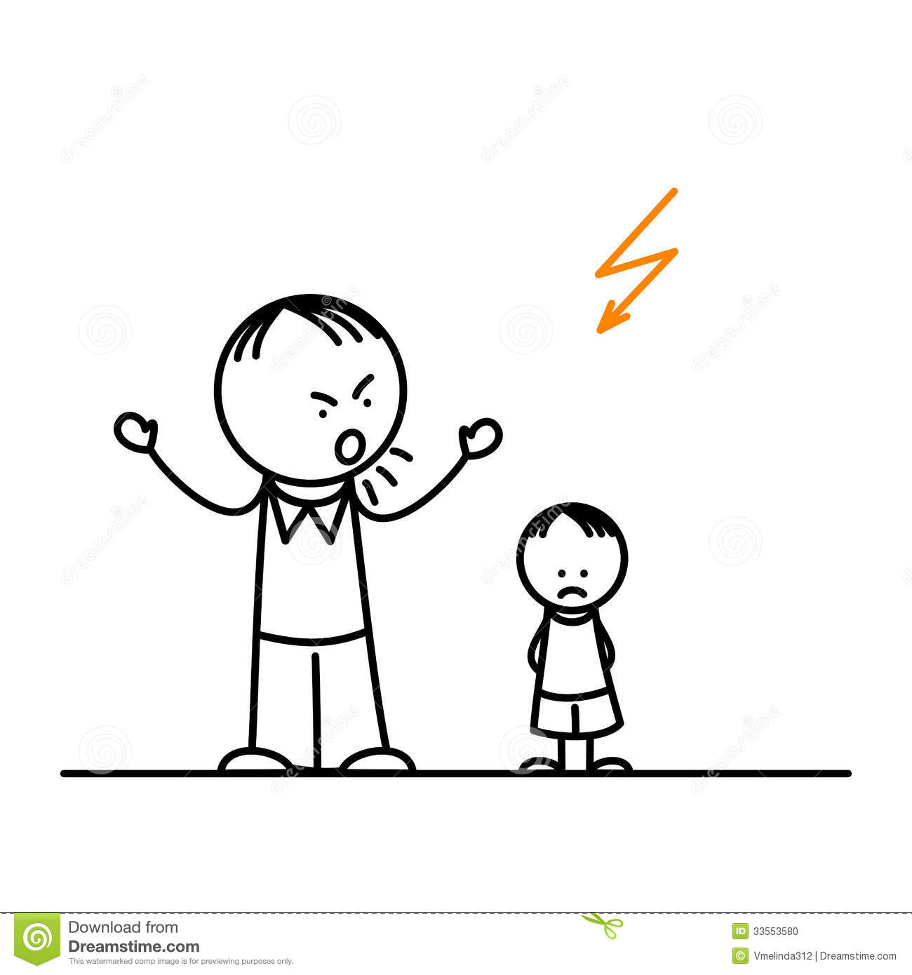 Angry Father Stock Vector Illustration Of Children