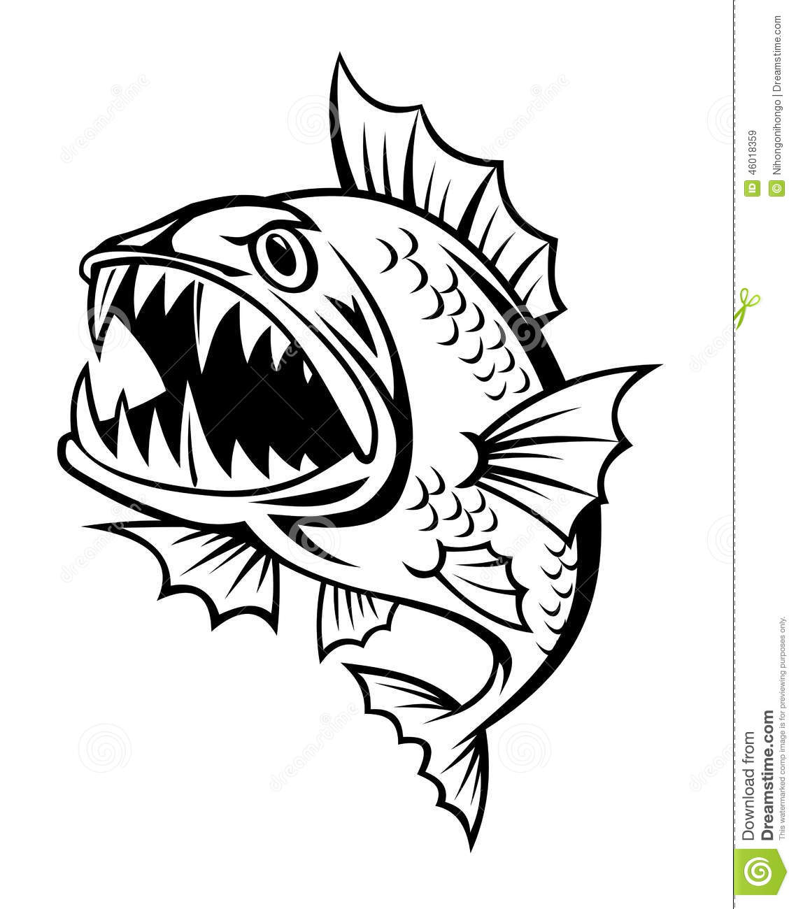 Angry Fish Stock Vector