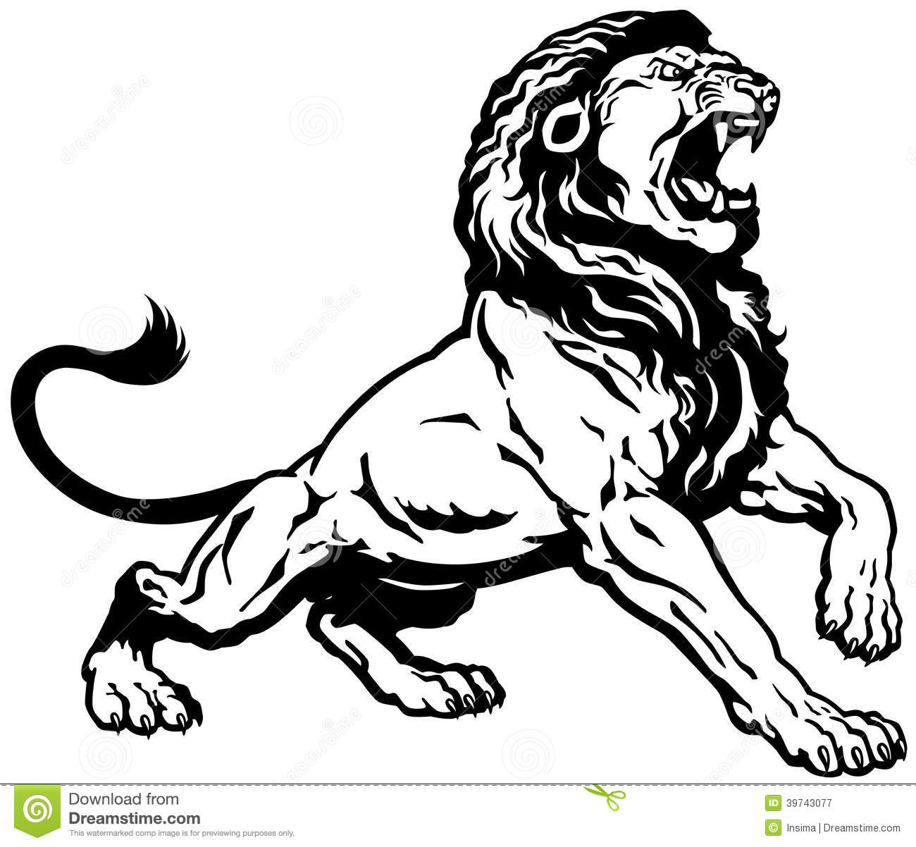 Angry Lion Stock Vector Illustration Of Creature Male