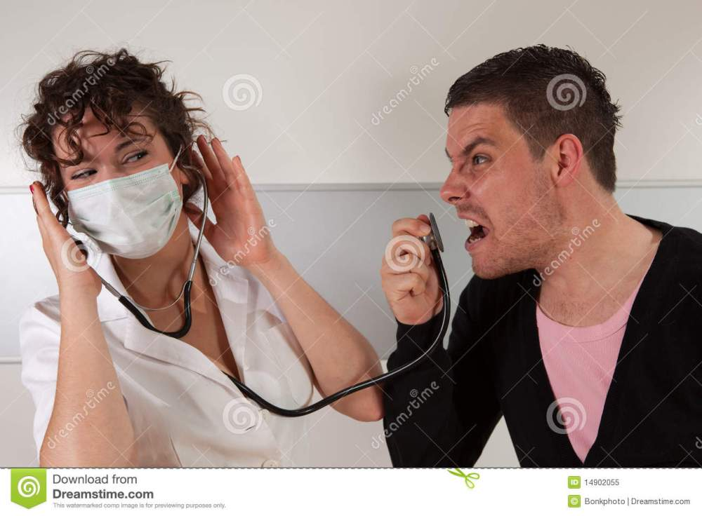 medium resolution of dentist angry patient royalty free stock photo