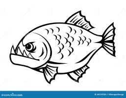 Kleurplaat Piranha Ausmalbild Zwei Hechte Ausmalbilder ...