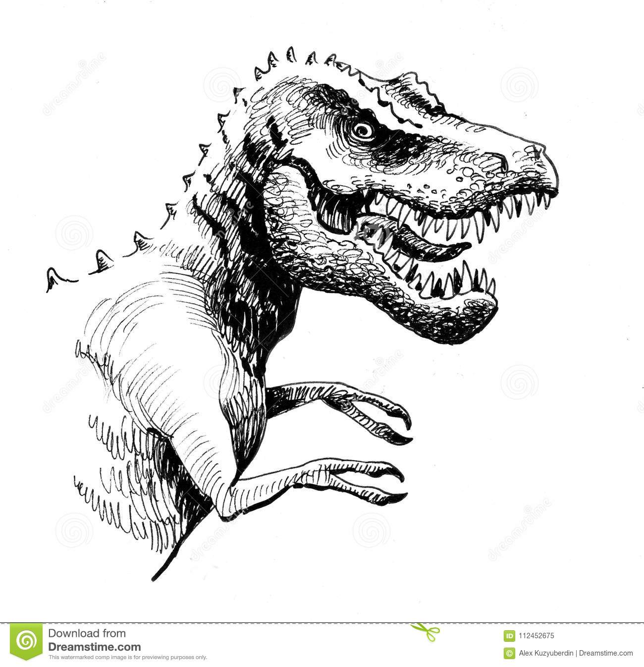 Angry T Rex Stock Illustration Illustration Of