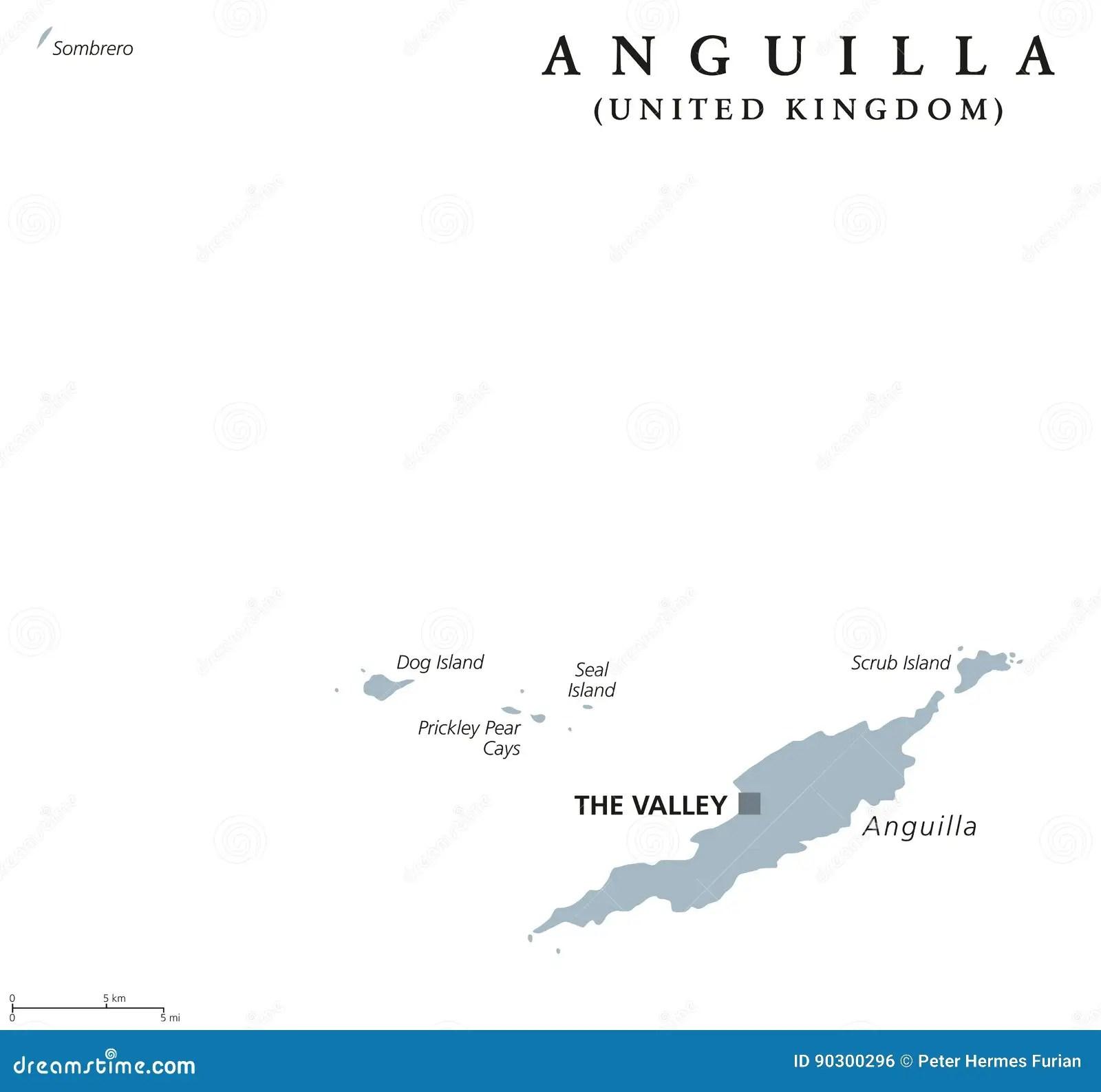 Lesser Antilles Political Map Cartoon Vector