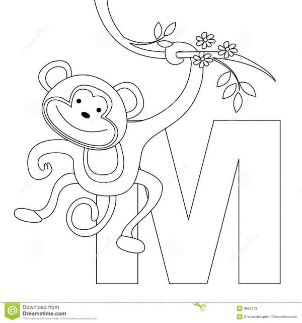 letter m coloring page # 15