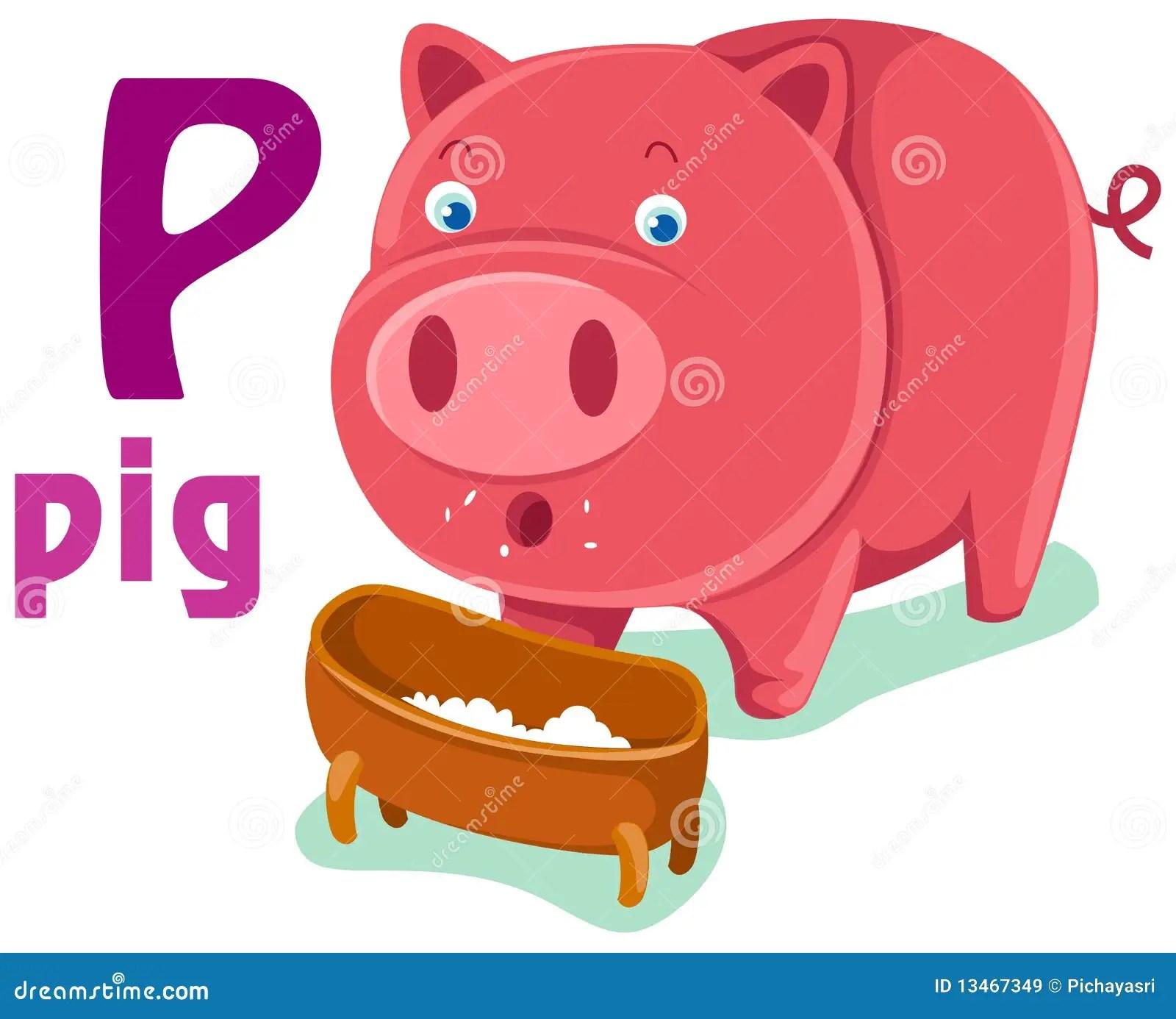 Animal Alphabet P Royalty Free Stock Images
