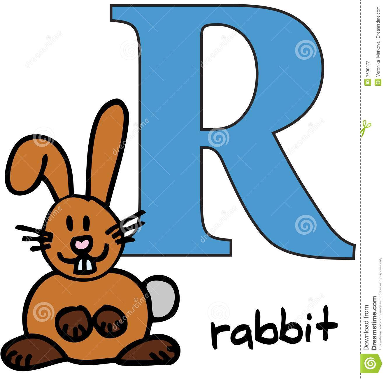 Animal Alphabet R Rabbit Stock Vector Illustration Of