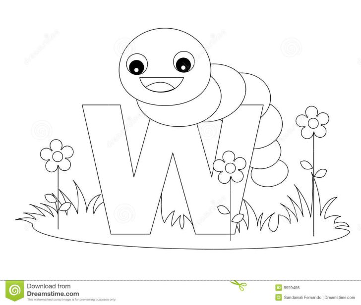 Animals And Flowers: Alphabet Coloring Pages With Animals. Royalty Stock Image Animal Alphabet Coloring Page Widescreen With Of Mobile Phones Hd Pics Alphabetcoloring Vector Illustration