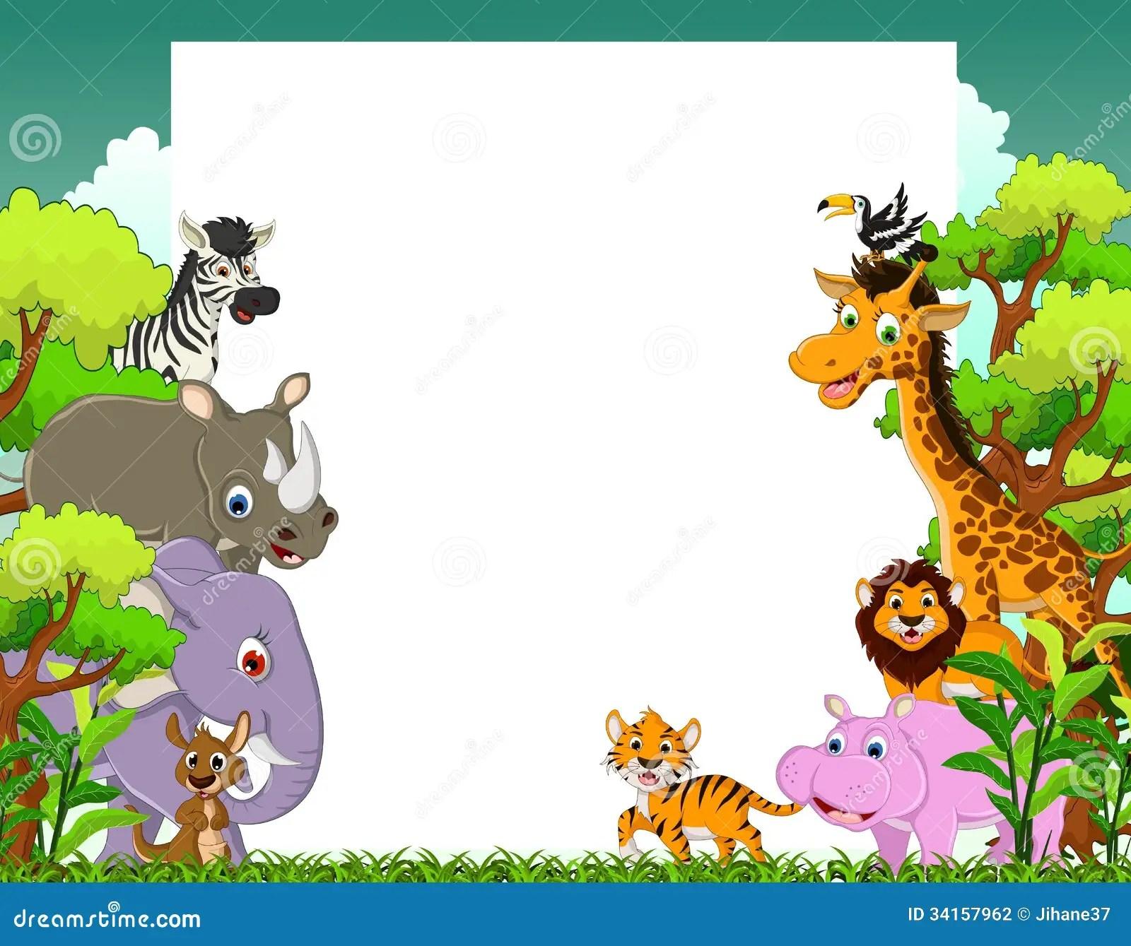 animal cartoon with blank