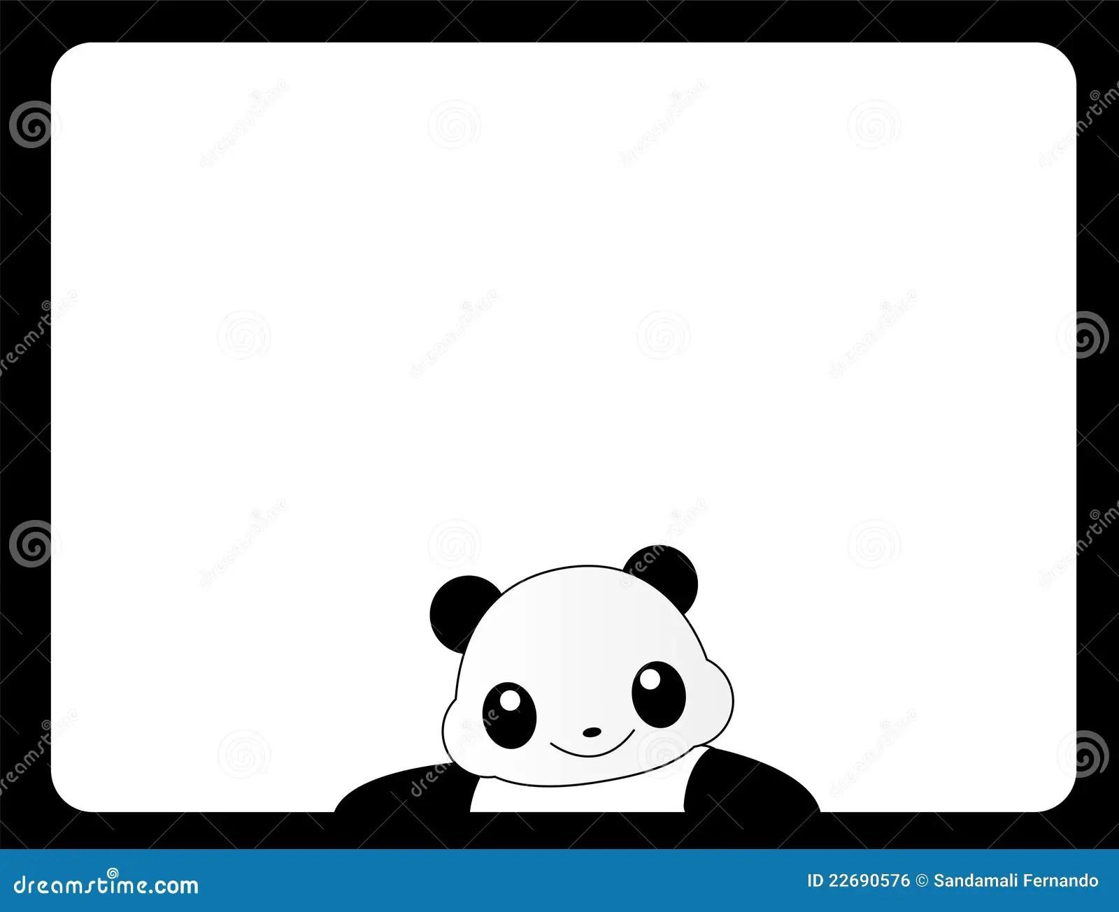animal frame panda stock