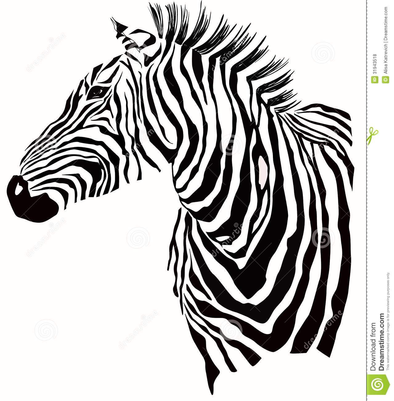 Animal Illustration Of Zebra Silhouette Stock Vector