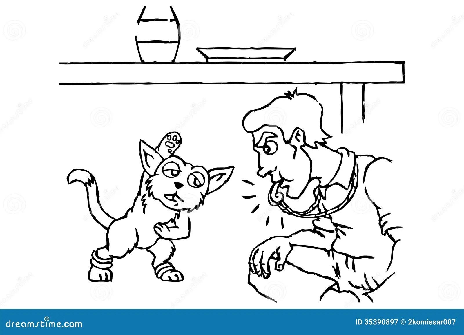 Animal Trainer Stock Vector Illustration Of Feline