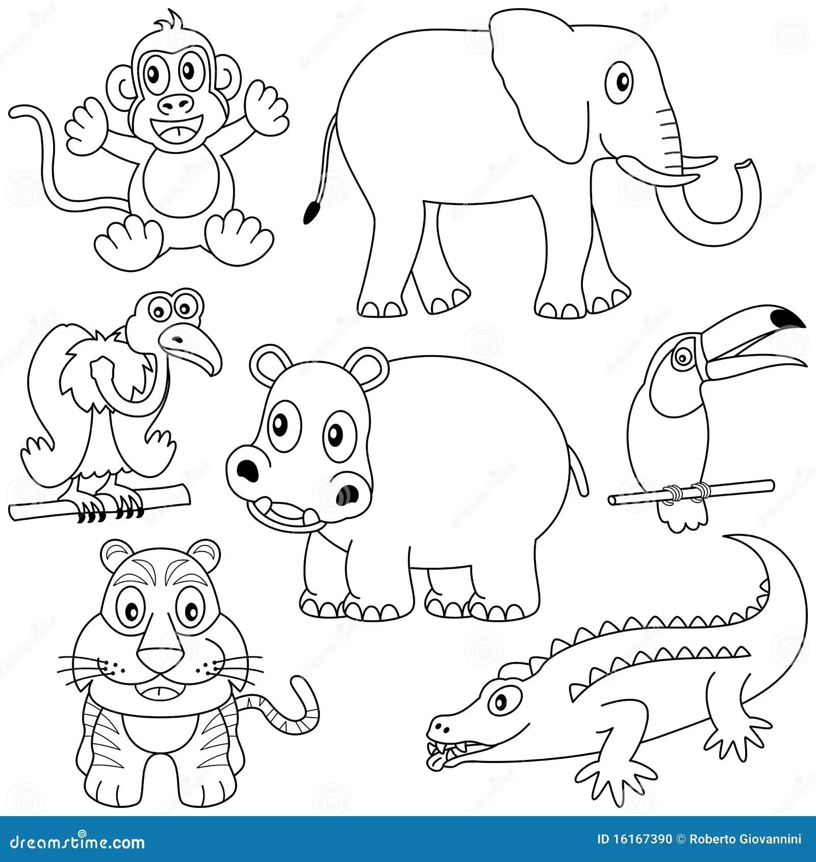 Animales Africanos Que Colorean 2 Ilustracion Del Vector