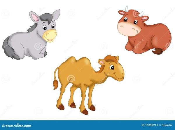 animals manger stock illustration