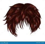 anime brown hair stock illustration