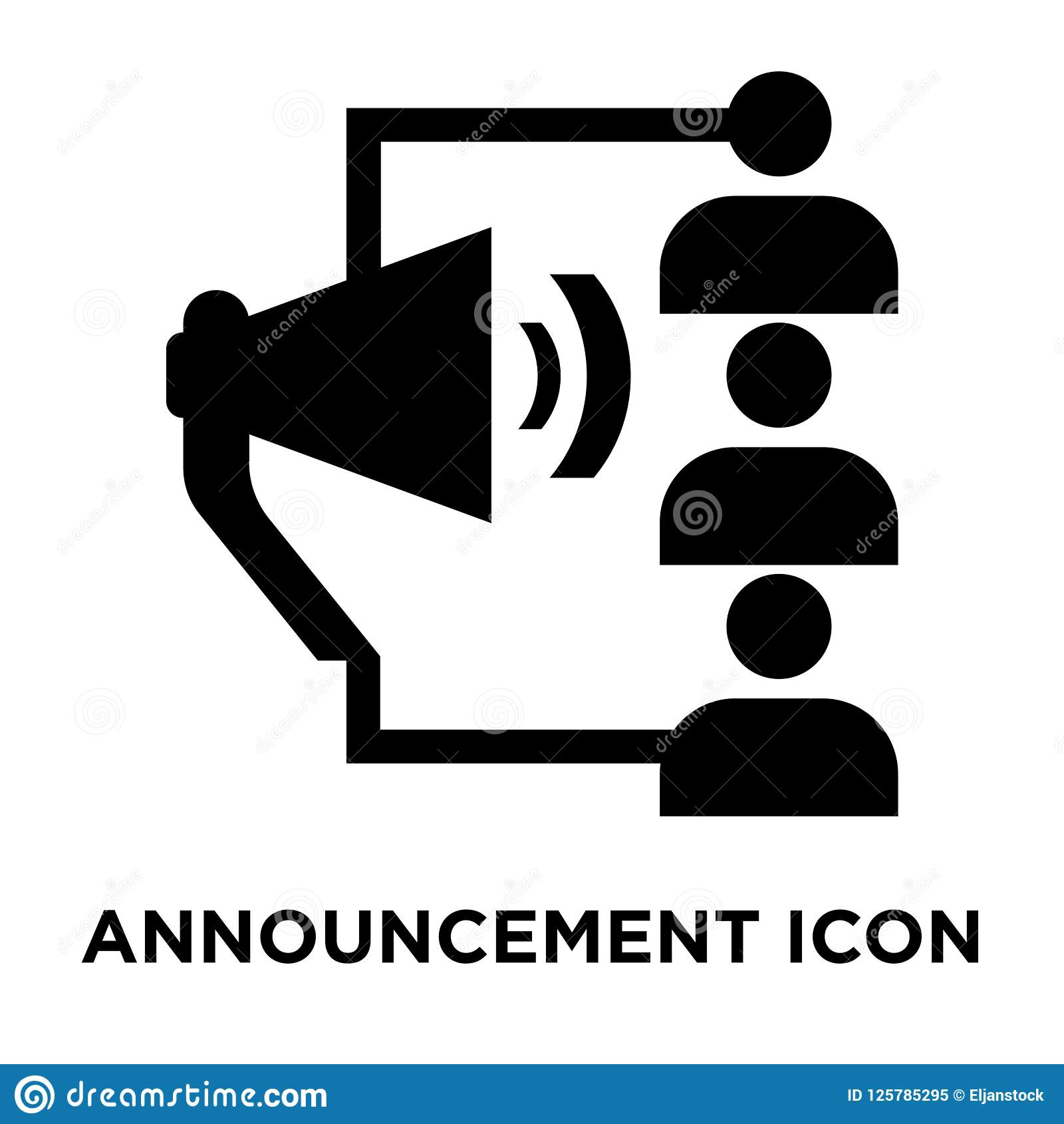 announcement icon vector isolated