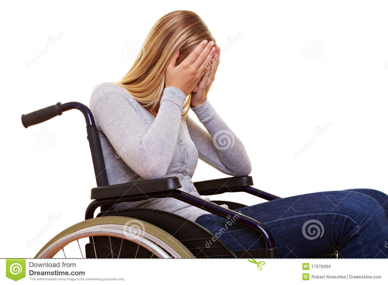 Anonymous Woman In Wheelchair Stock Photo  Image 17076394