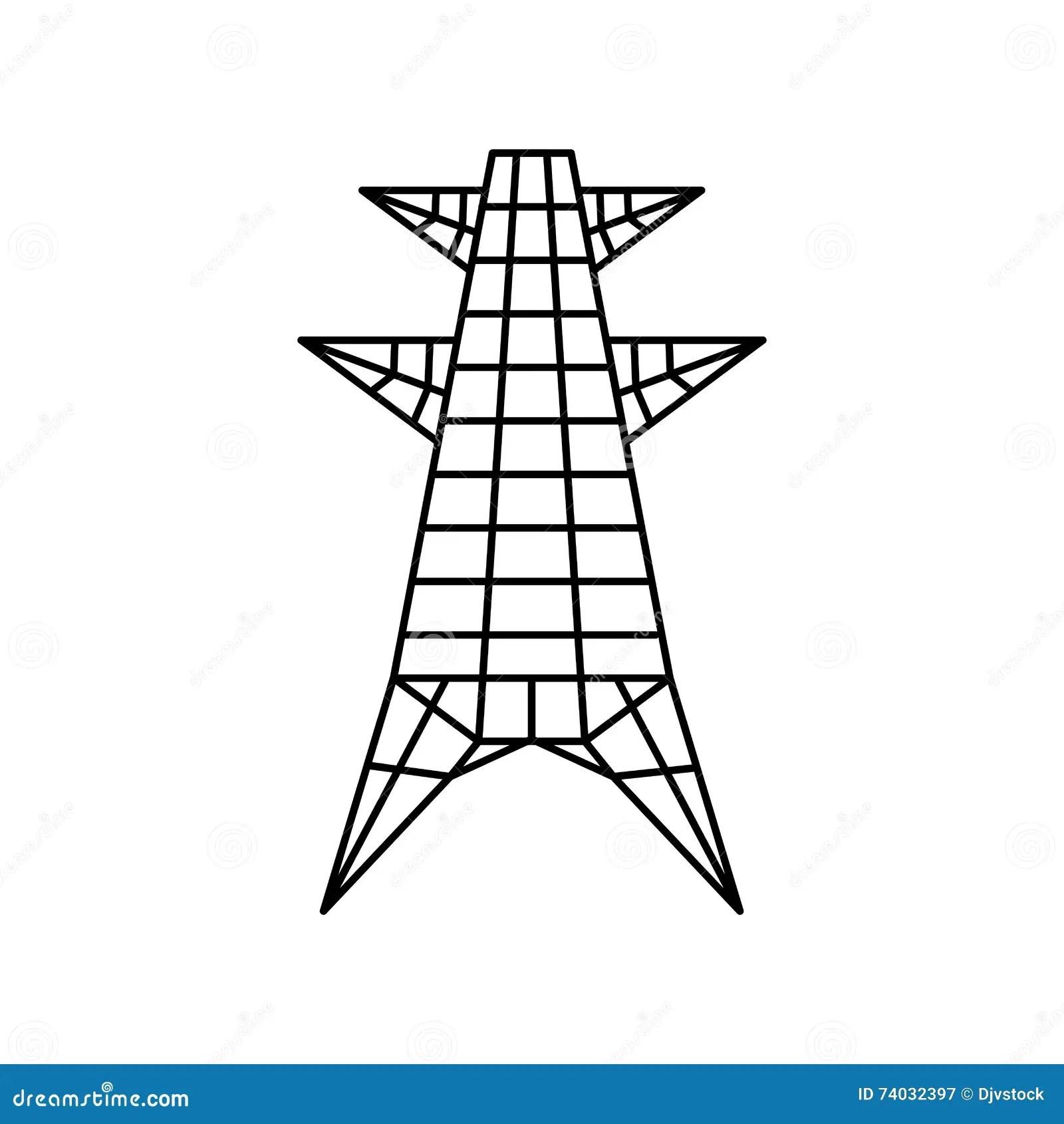 Icon Antenna Communication Vector Illustration