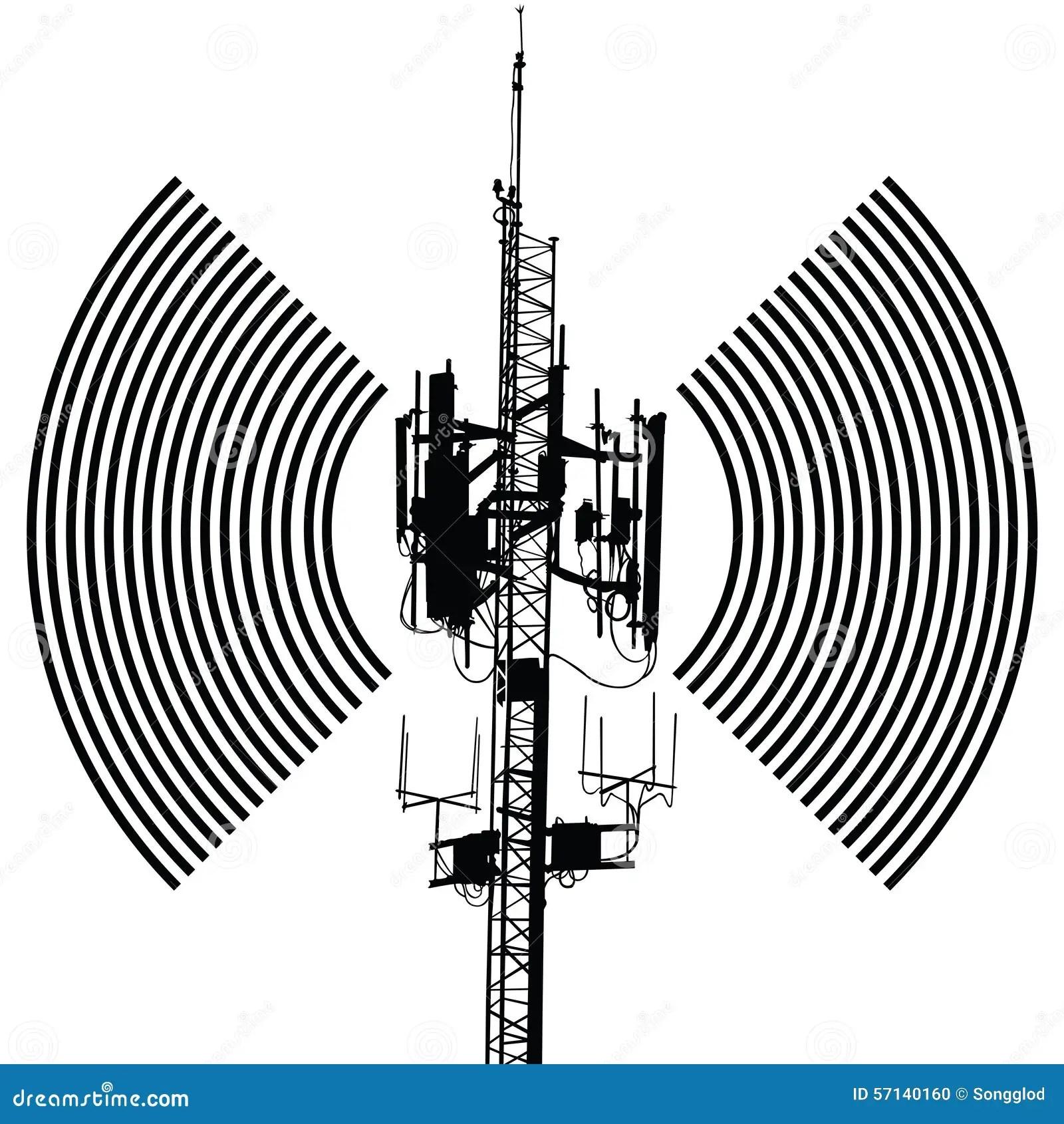 Antenna Sign Vector Design Stock Vector