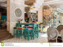 Antique Cafe Interior Royalty Free Stock