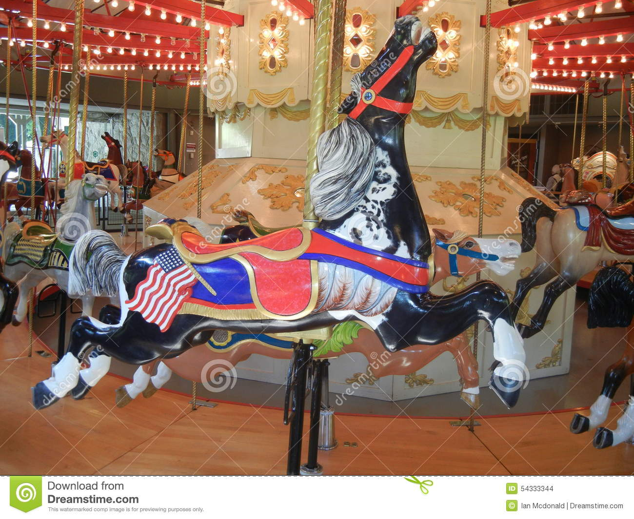 hight resolution of antique carousel horse