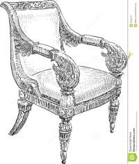 Antique chair stock vector. Illustration of decoration ...