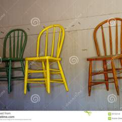 Hanging Chair On Wall Outdoor Plastic Chairs Kmart Antique Stock Photo Image 65722141