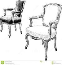 Antique Chairs Stock Vector - Image: 53235200