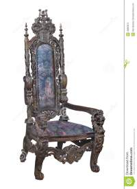Antique Fancy Carved Wooden Chair Isolated. Stock Image