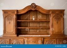 Antique Furniture Chest Of Drawers Bookshelf Stock