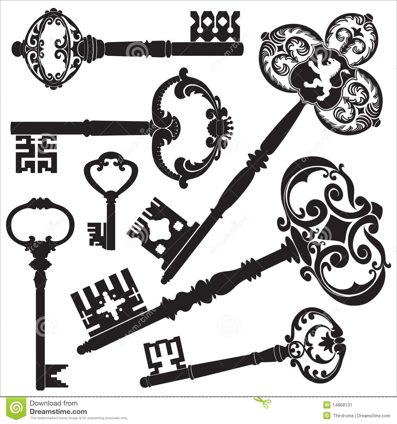 Antique Keys stock vector. Image of isolated, keys, house