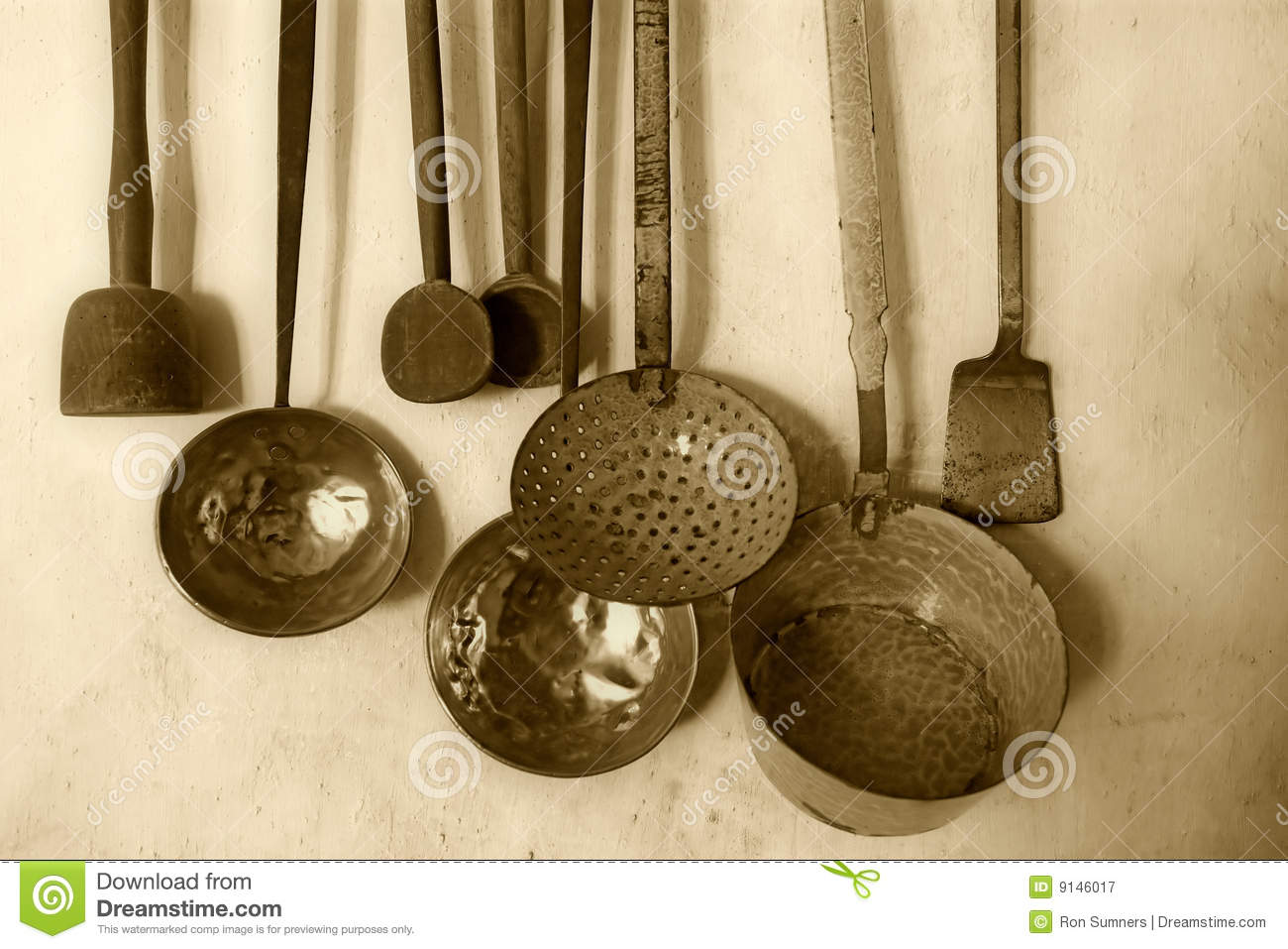 Antique Kitchenware Stock Image Image Of Object