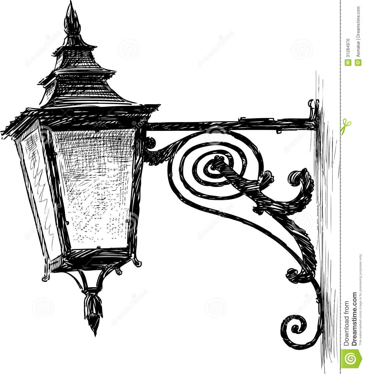 Antique Lantern Stock Vector Illustration Of Drawn Lantern 31284976