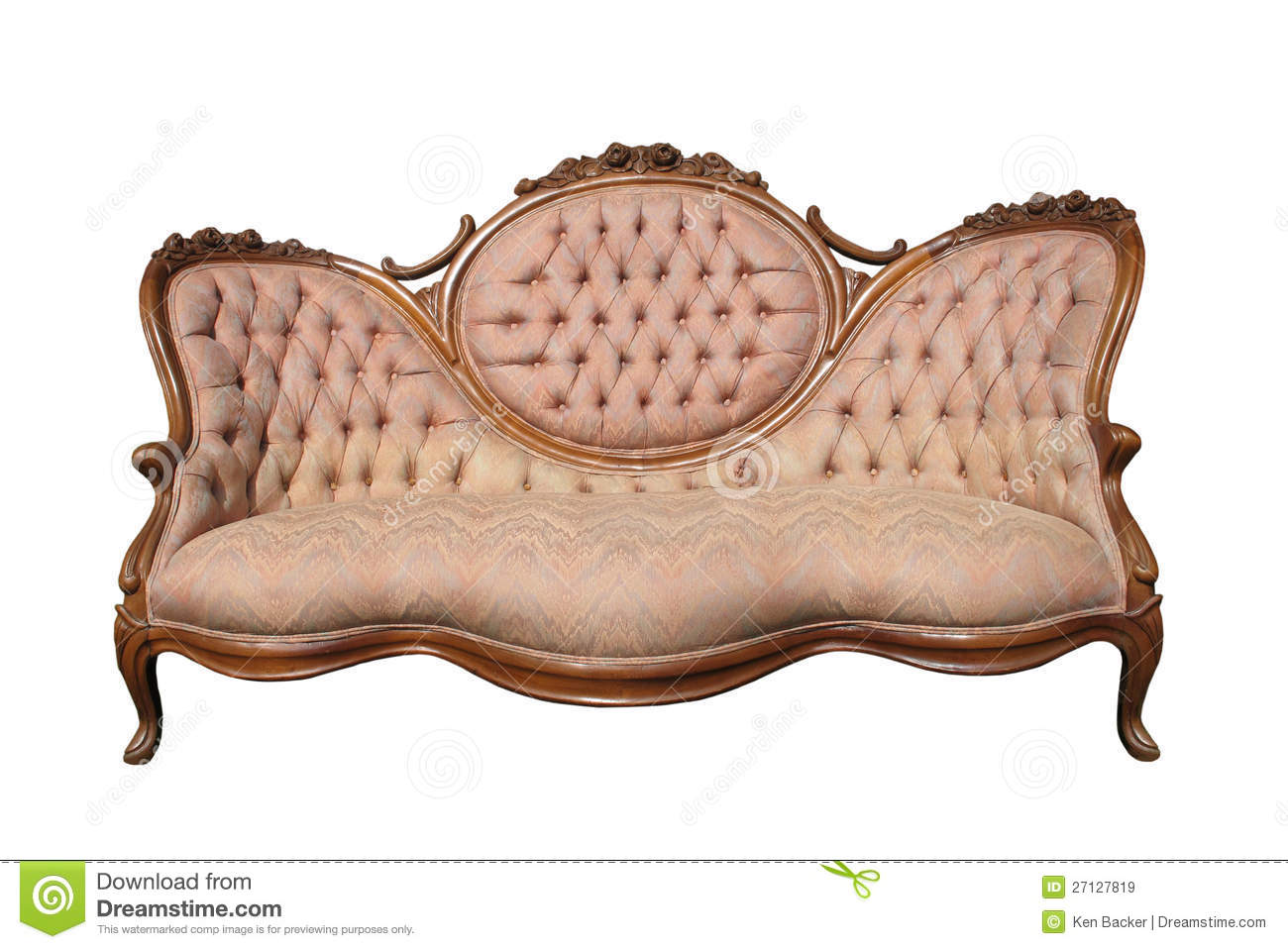fancy wooden sofa set philip sofaer capital antique luxury pink fabric isolated royalty free