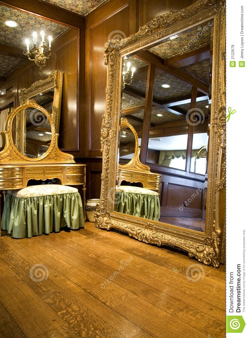 traditional pictures for living room modern l shaped sofa in antique mirror and dresser stock photo. image of candles ...