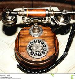 antique telephone old dial round wooden brown [ 1300 x 1138 Pixel ]