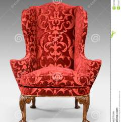 Red Wing Chair Ice Fishing Cabela's Antique Upholstered Carved Legs Isolated With Clip Pa Stock Image - Of Armchair ...