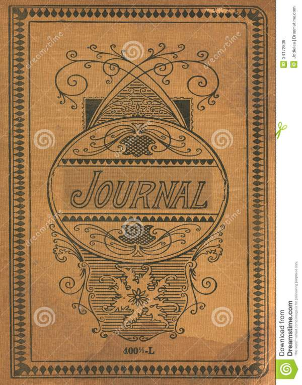 Antique Vintage Diary Journal Book Cover Royalty Free
