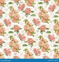 Antique Vintage Floral Wallpaper Background Stock Image