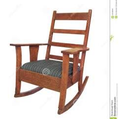 Rocking Chair Antique Styles Ergonomic Nepal Wooden Isolated Stock Image Of