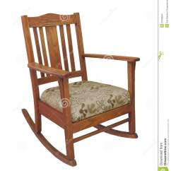 Old Wood Chairs Oversized White Chair Antique Wooden Rocking Isolated Stock Photo Image