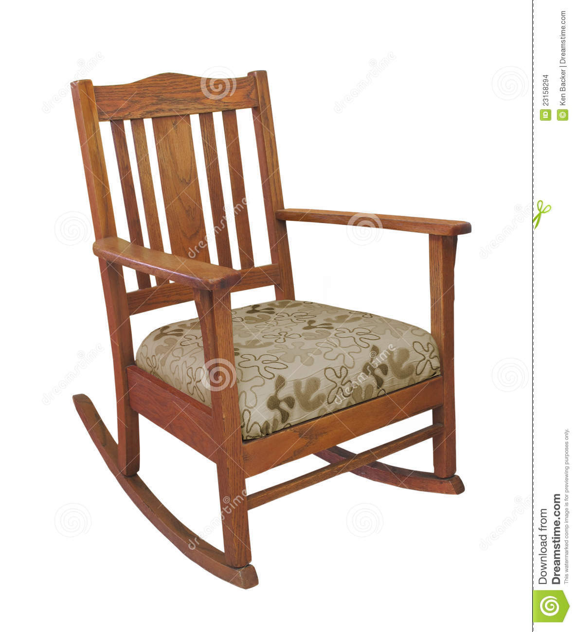 vintage wooden chairs rubber feet for metal folding antique rocking chair isolated stock photo image