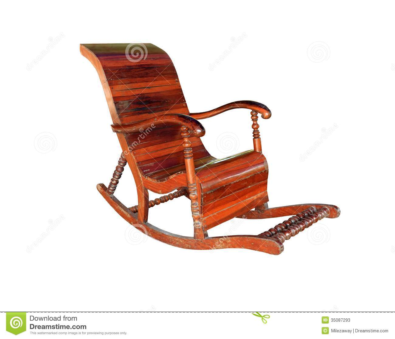 antique wooden rocking chairs chair cover hire in kent stock photos image 35087293